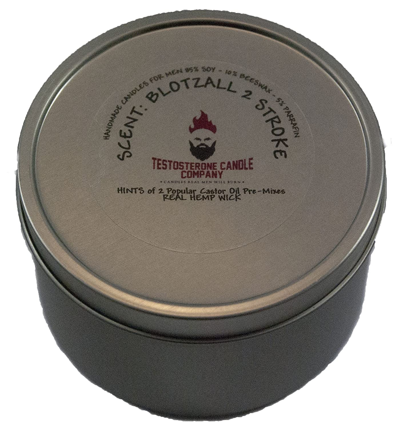 Testosterone Candle Company Blotzall Motocross Blended Castor Oil Scented Candle 8oz