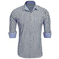 Burlady Trachtenhemd männer Herren/Freizeithemd Wanderhemd Karohemden/Plaid Shirts Ganzjahresartikel Oketoberfest Hemden/Oberteil