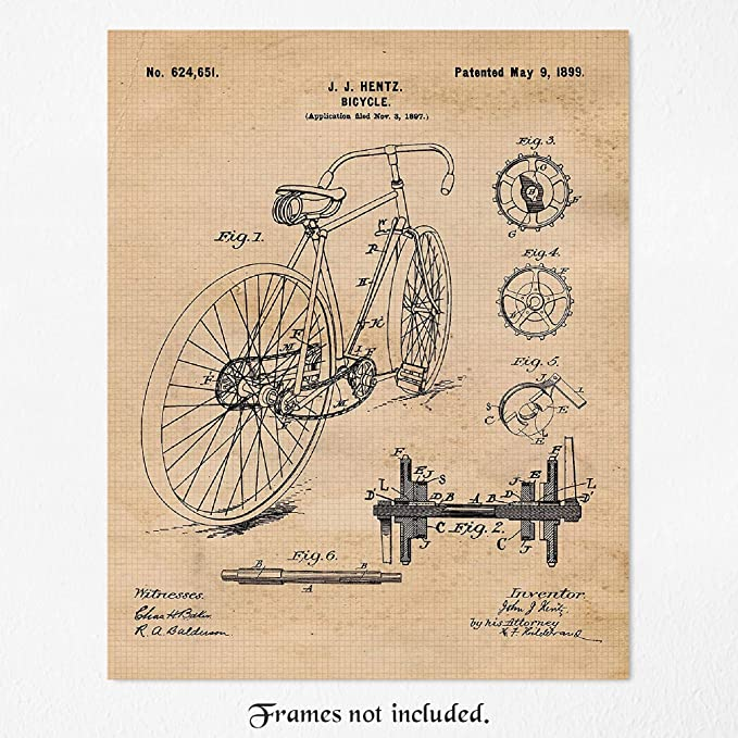 gift Cyclists picture wall art bike poster print home decor print