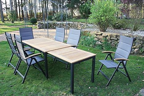 Bukatchi 7 de Piezas Muebles de Jardín Grupo, 6 sillas ...