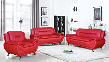 Amazon.com: U.S. Livings Anya Modern Living Room Polyurethane ...