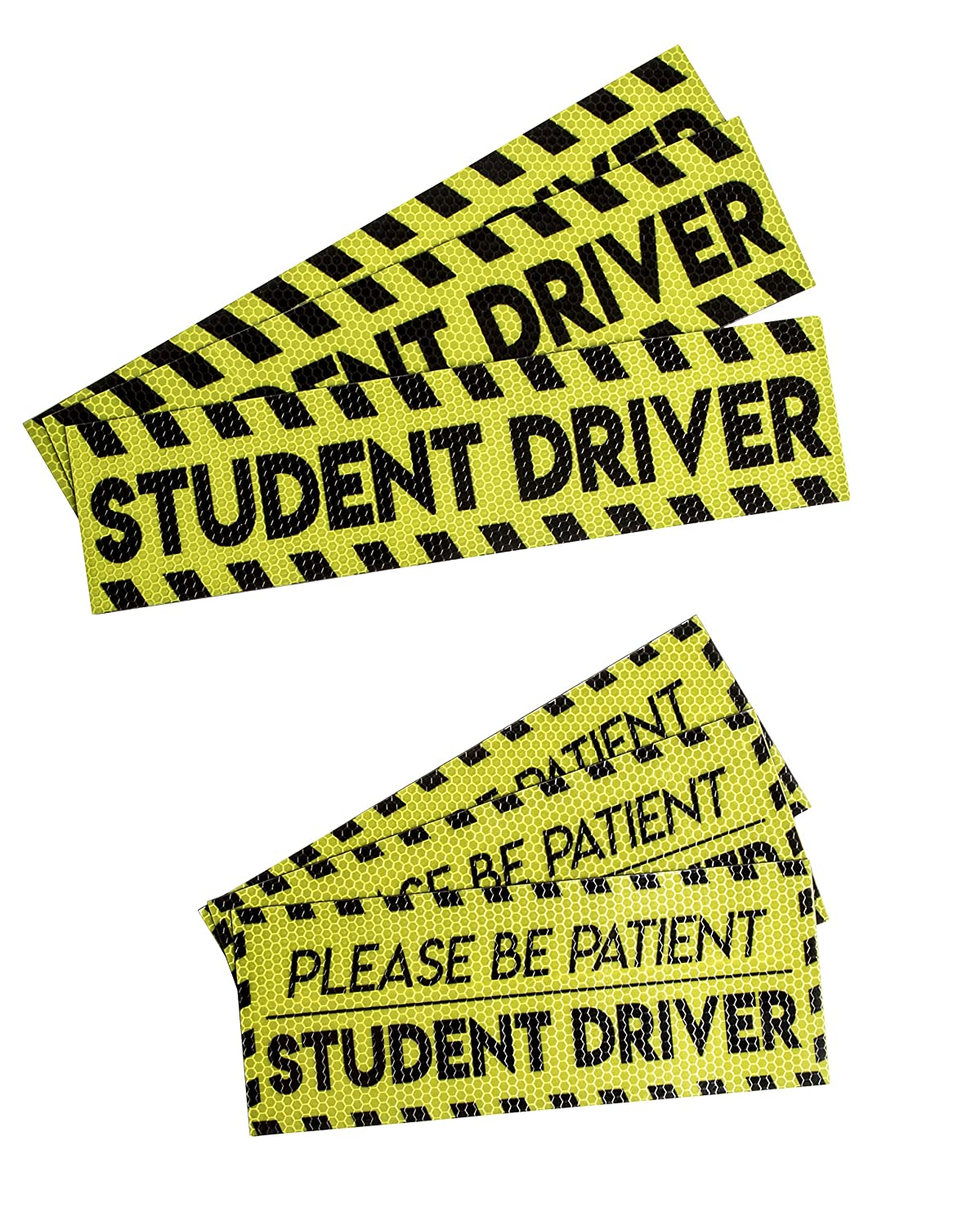 Heavy Duty Reflective Car Safety Signs for Novice or Beginners 2 Assorted Designs 6-Pack Student Driver and Please Be Patient Bumper Magnets for New Drivers Juvale Student Driver Magnets