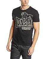 Lonsdale Herren Kurzarm T-Shirt Trägerhemd  Langsett