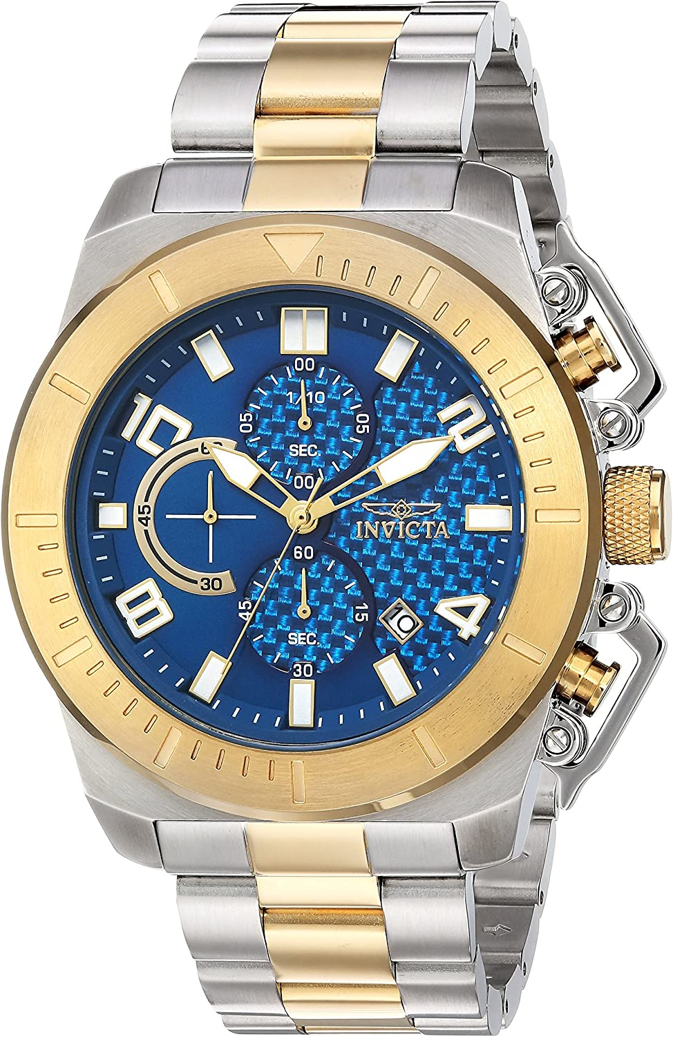 Invicta Men s Pro Diver Japanese-Quartz Watch with Stainless-Steel Strap, Two Tone, 10 Model 23407