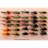 Trout Fly Fishing Flies 30 GOLD HEADED NYMPHS SET 33J