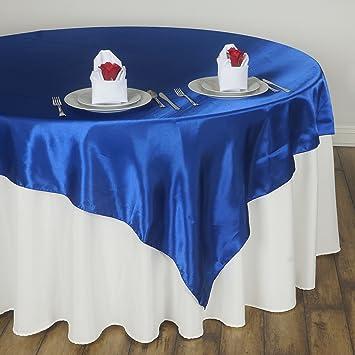 Amazon Balsacircle 5 Pcs 60x60 Inch Royal Blue Satin Table