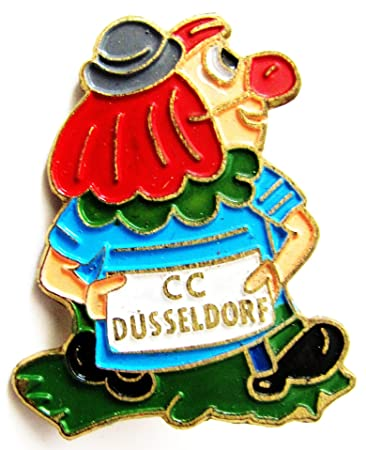 Karneval Cc Dusseldorf Clown Anstecker 30 X 25 Mm Amazon De