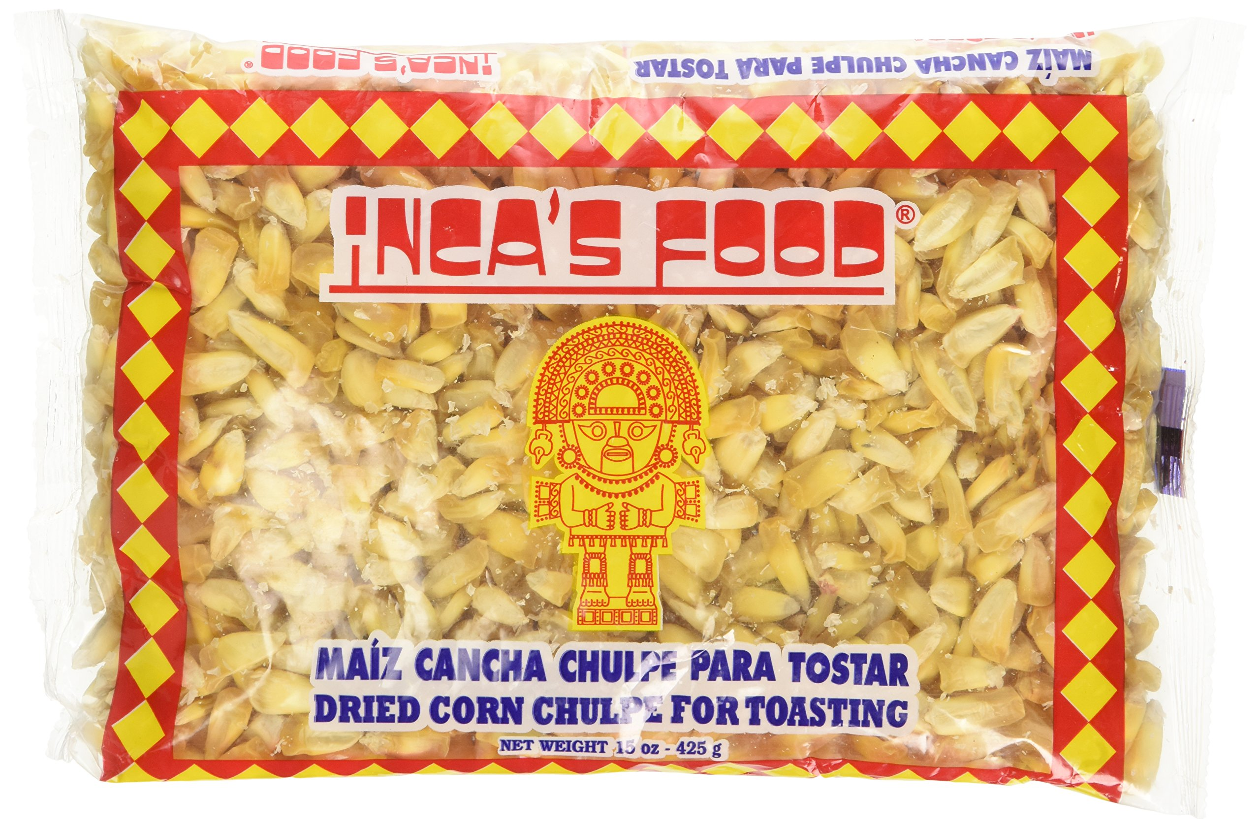 Incas Food Maiz Cancha Chulpe Para Tostar- Dried Corn Chulpe for Toasting - Product of Peru 15oz