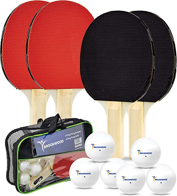 Brookwood Supplies Table Tennis Set - Ping Pong Paddles