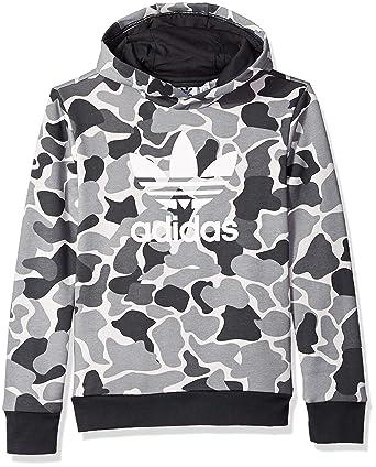 280ab7831452 Amazon.com  adidas Originals Boys  Trefoil Camo Print Hoodie  Clothing