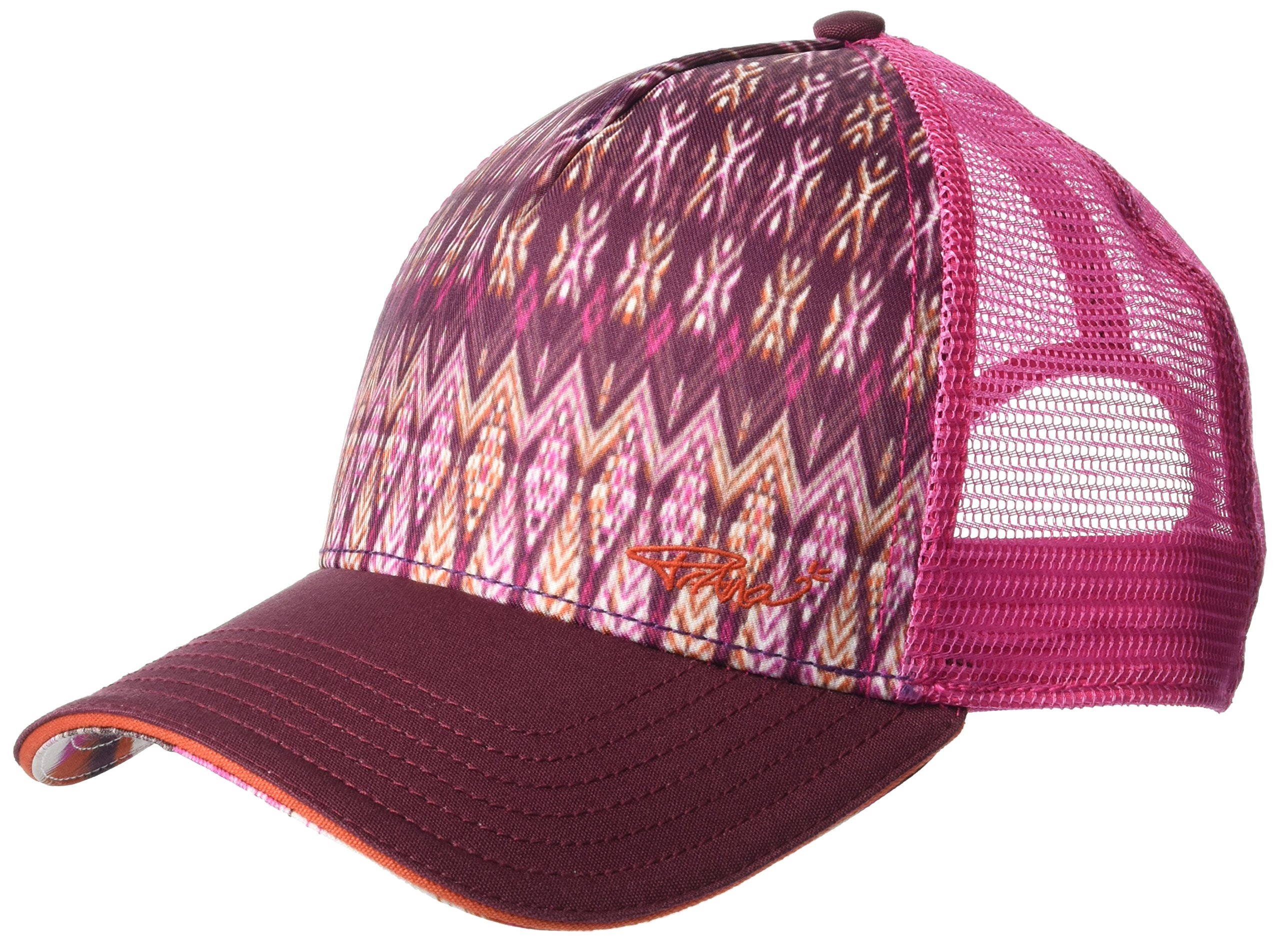 prAna Women's La Viva Trucker Cold Weather Hats, One Size, Black Cherry Izabal