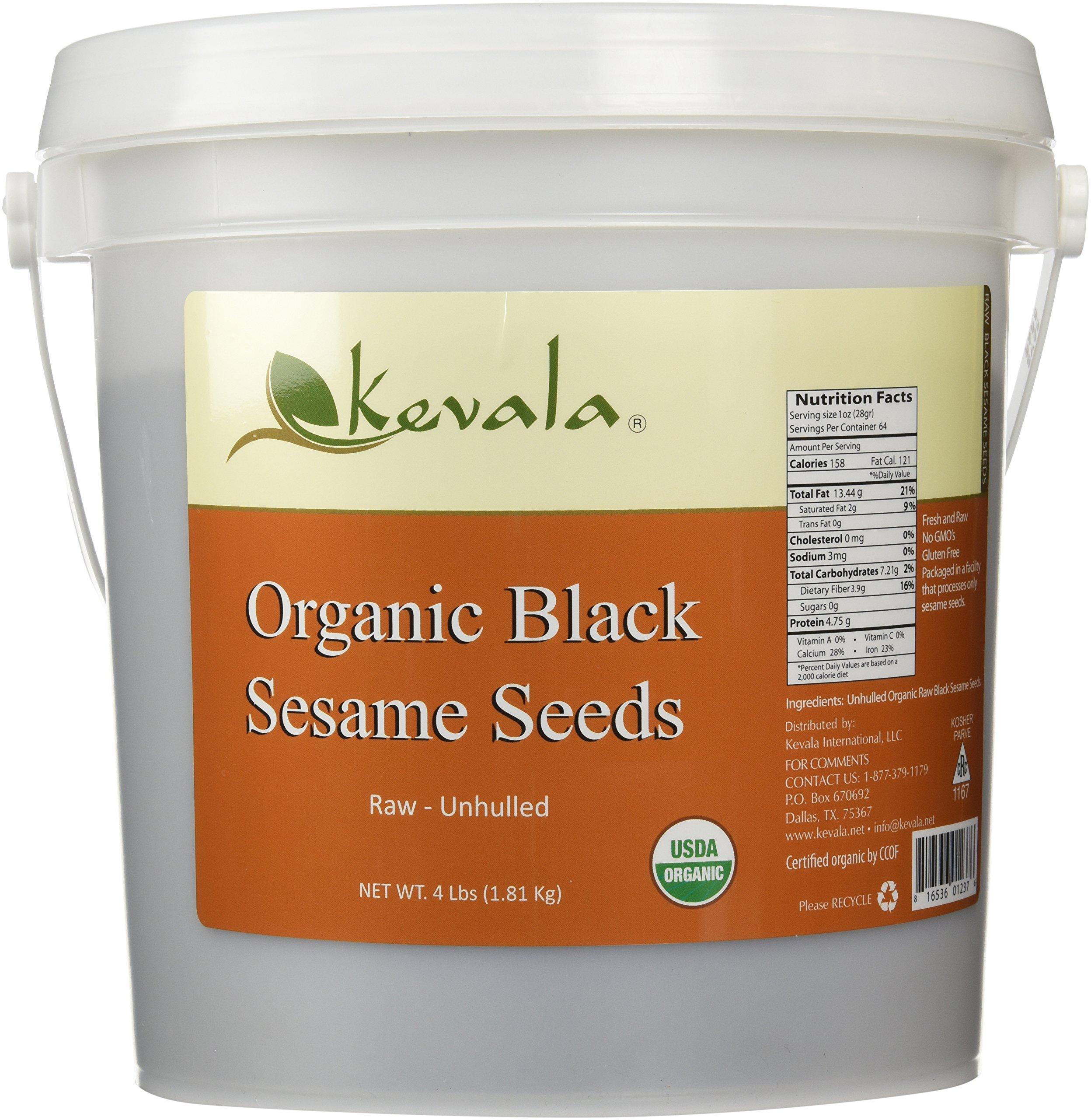 Kevala Organic Black Sesame Seeds 4Lbs (RAW)