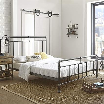 Flex forma Eden plataforma de metal marco de la cama/colchón Foundation con cabecero y