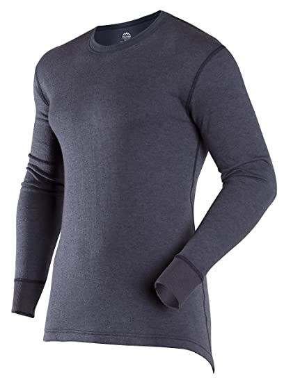 07ff1a79d8b ColdPruf Men s Authentic Dual Layer Long Sleeve Wool Plus Crew Neck Base  Layer Top