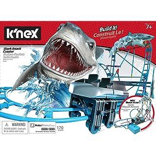 K'NEX Thrill Rides - Tabletop Thrills Shark Attack Roller Coaster Building Set - Ages 7+