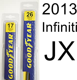 "product image for Infiniti JX (2013) Wiper Blade Kit - Set Includes 26"" (Driver Side), 17"" (Passenger Side) (2 Blades Total)"