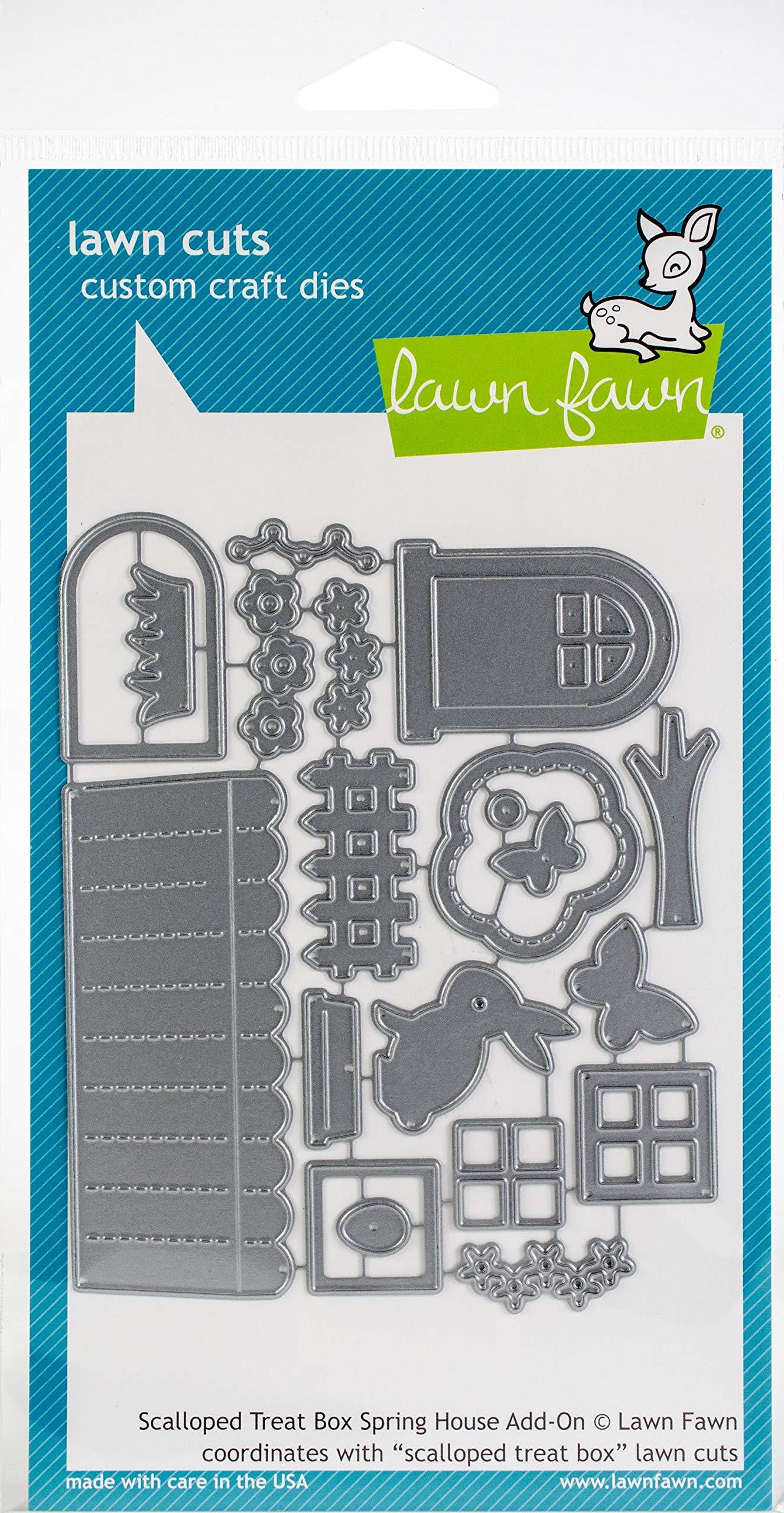 LF1975 Lawn Fawn Scalloped Treat Box Beach House Add-on Custom Craft Die