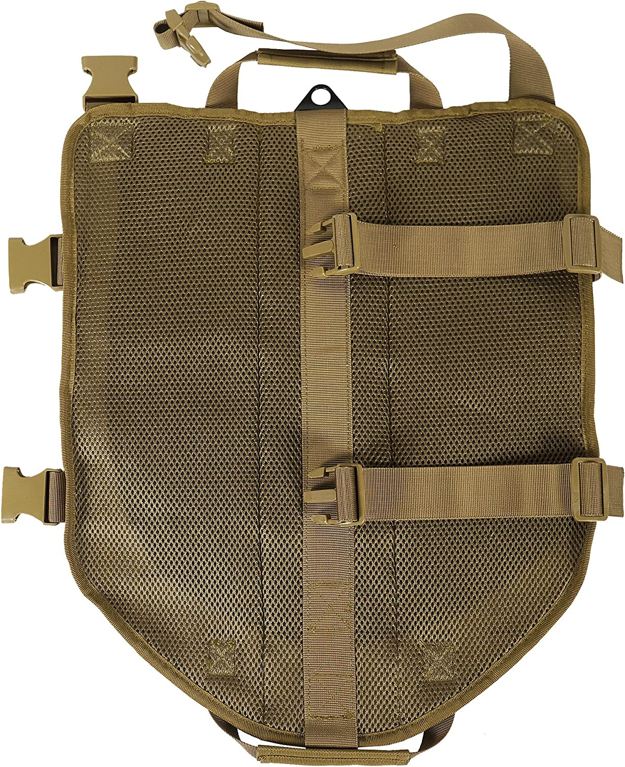 LIVABIT Canine Service Dog Tactical Molle Vest Harness [ Also for Cats & Puppies ] TAN X-Small