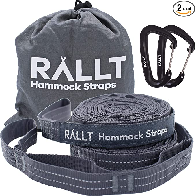 Rallt Hammock Tree Straps – The Extendable Hammock Strap