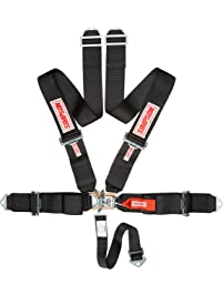 """Simpson Racing 29061BK Latch and Link 62"""" Black Pull Up Bolt-in Individual 5-Point Harness System"""