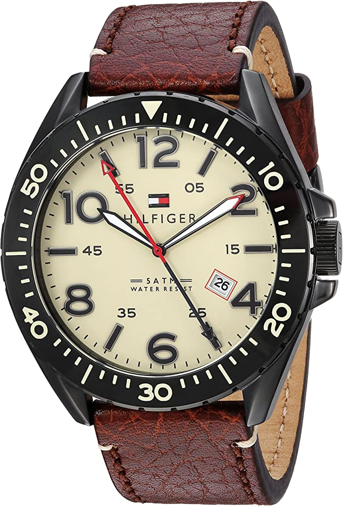Tommy Hilfiger 1791133 - Reloj de Pulsera Hombre, Piel, Color ...