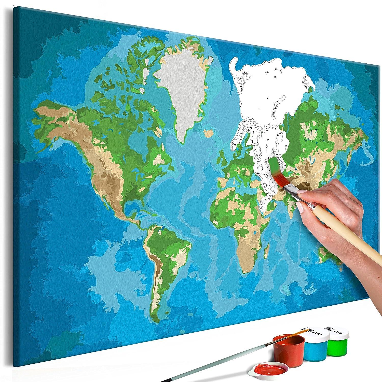 Murando - Malen nach Zahlen Weltkarte 100x50cm 5 TLG Malset DIY n-A-0231-d-m B07B3XCCDL | Jeder beschriebene Artikel ist verfügbar