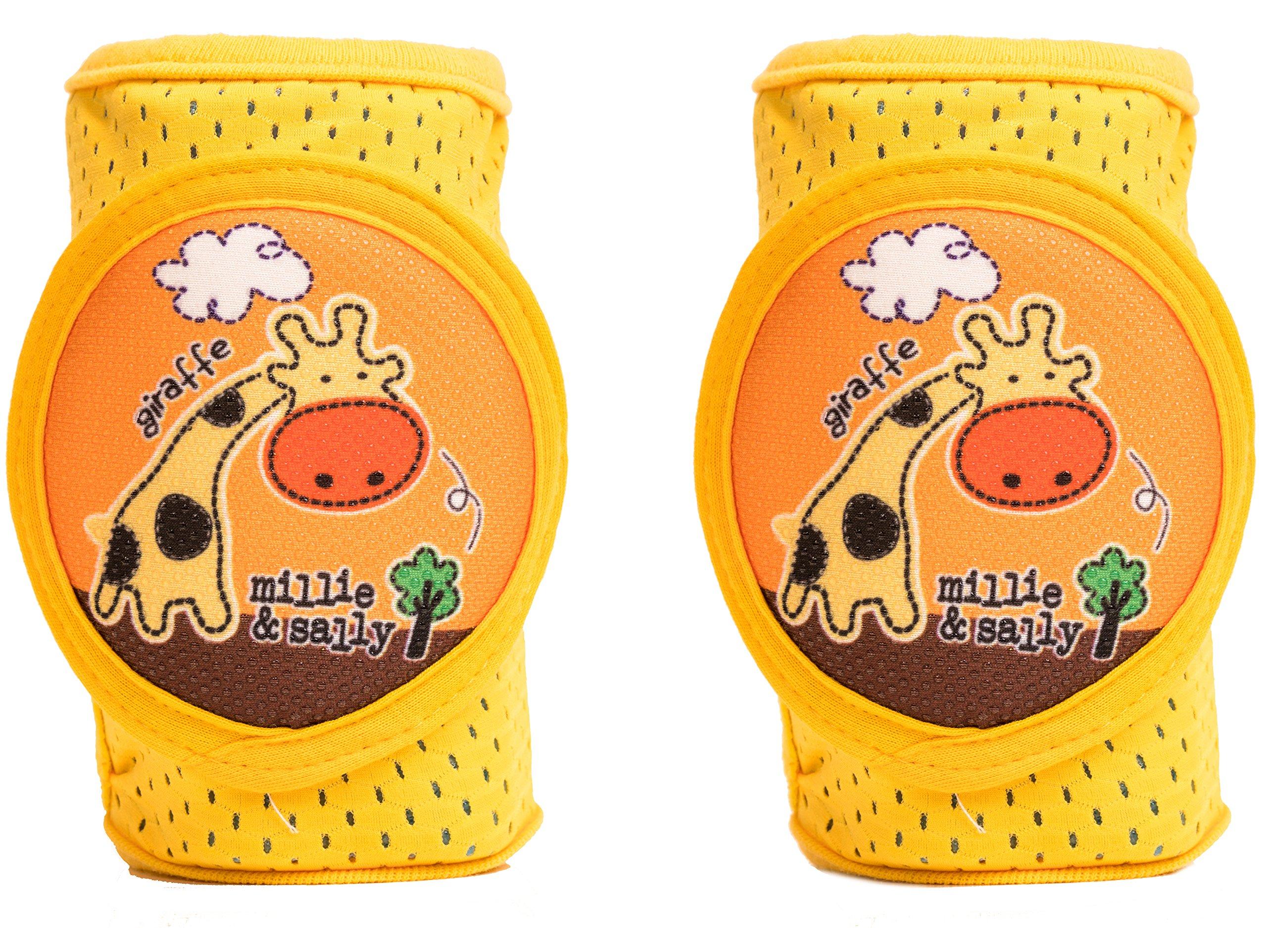 Baby Knee Pads Anti-Slip Walking Kneepads Adjustable Hook & Loop Strap Unisex For Boys Girls Infant Toddler Knee & Elbow Pads Memory Foam Pad Cushion Breathable Mesh Fabric Knee Pads For Babies by Kstar (Image #4)