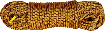 Mantle - Cuerda de escalada (20 m hasta 80 m, 9,8 mm), color negro y naranja