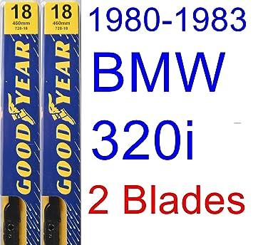 1980 - 1983 Bmw 320i, hoja de limpiaparabrisas de repuesto Set/Kit (Goodyear limpiaparabrisas blades-premium) (1981,1982): Amazon.es: Coche y moto