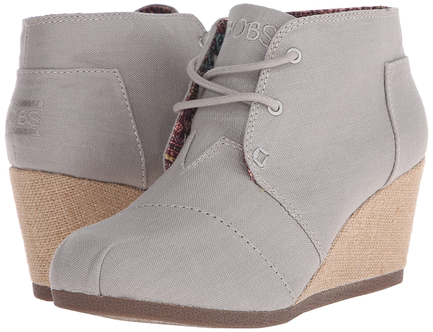 Skechers BOBS from Women's High Notes Wedge Boot B018BIS13K 8 B(M) US Taupe Linen