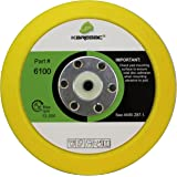 "Karebac 6100 Back-up Sanding Pad, PSA 6"" Diameter x 3/4"" Thick, 5/16""-24 External Thread (1 Pack), Yellow"