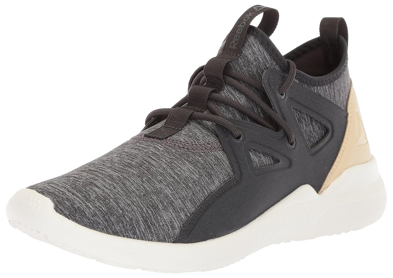 Reebok Women's Cardio Motion Sneaker B072PVCRYG 9 B(M) US|Coal/Ash Grey/Straw/Chalk