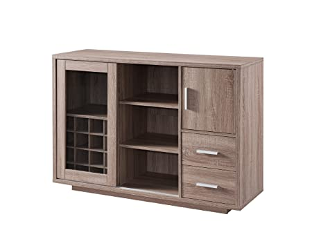 ioHOMES Thandie Dining Buffet and Wine Cabinet, Weathered Wood