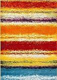 Puglia Multi Stripe Red Orange Yellow Blue Stripe