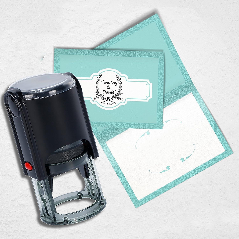 cartes de confirmation Tampon mariage personnalis/é faire-part Personnalis/é Tampon,/À utiliser sur les invitations de mariage