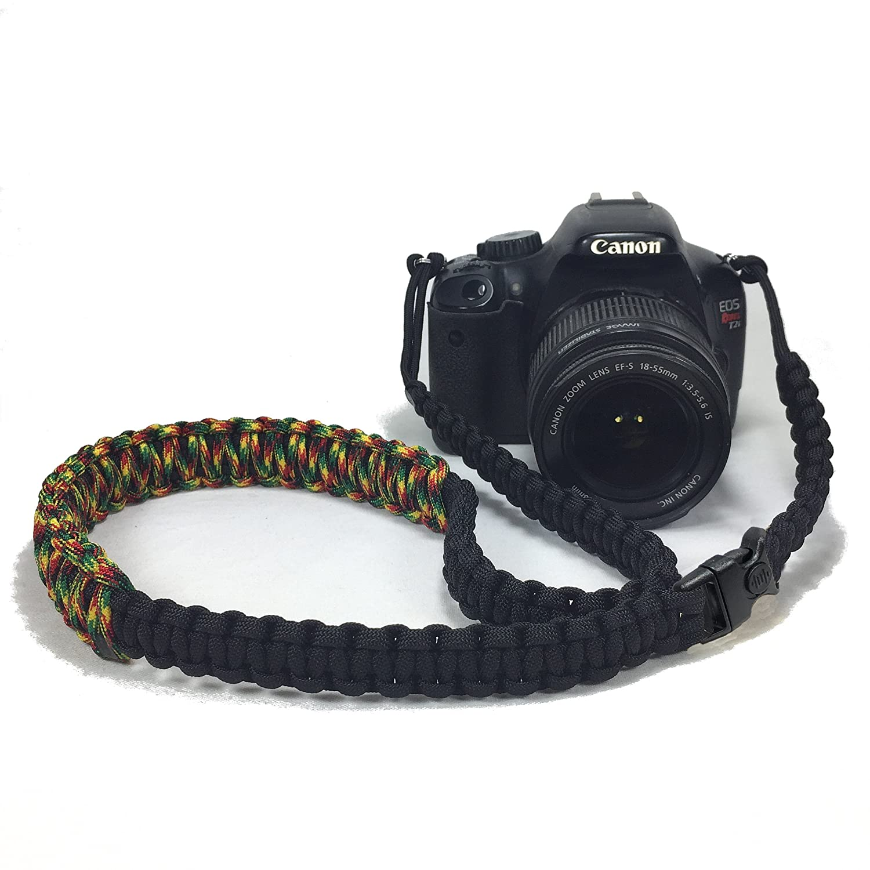 ジャマイカパラコード42インチDSLRデジタルカメラ首肩安全ストラップwithセキュリティバックル B07D3JGLMH
