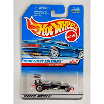 1998 - Mattel / Hot Wheels - Super Modified (Black) - 1998 First Editions #27 of 40 Cars - Collector #664 - MOC - Out of Production - Collectible: Toys & Games