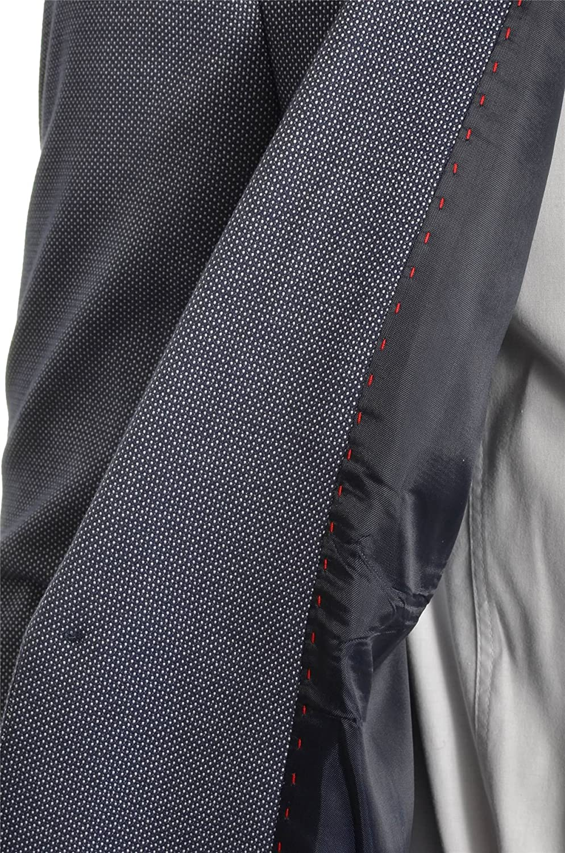D/&R Fashion Blazer Classic Design Uomo Giacca Blu Casuale Contrasto Fine Sottile Morbido Cotone