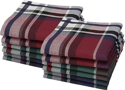 Betz Juego de pañuelos LEO 1 de tejido para caballeros 100% algodón 40x40 cm diseño 02 Color 12 piezas: Amazon.es: Ropa y accesorios