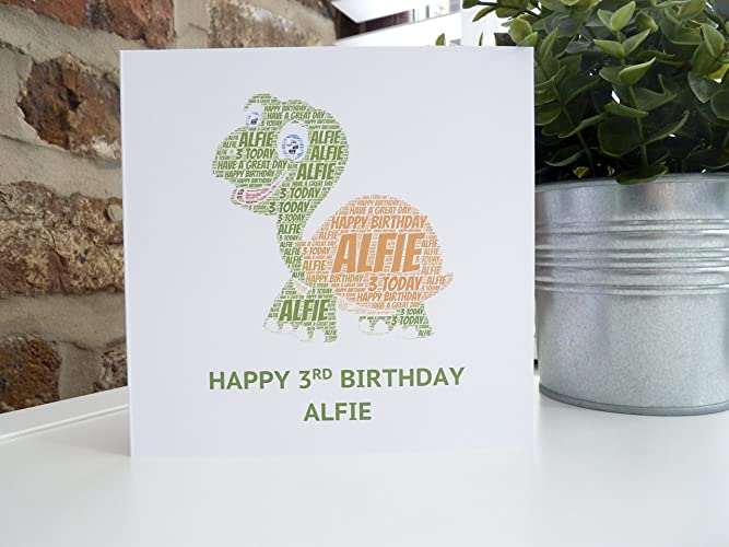 Amazon Personalized Turtle Card Turtle Card Personalized