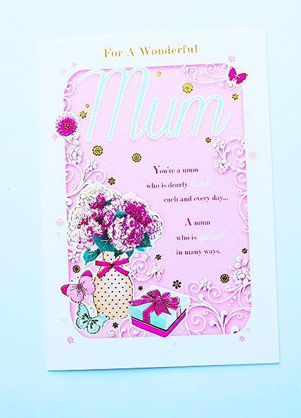 Pour Une Merveilleuse Maman Joyeux Anniversaire Carte De