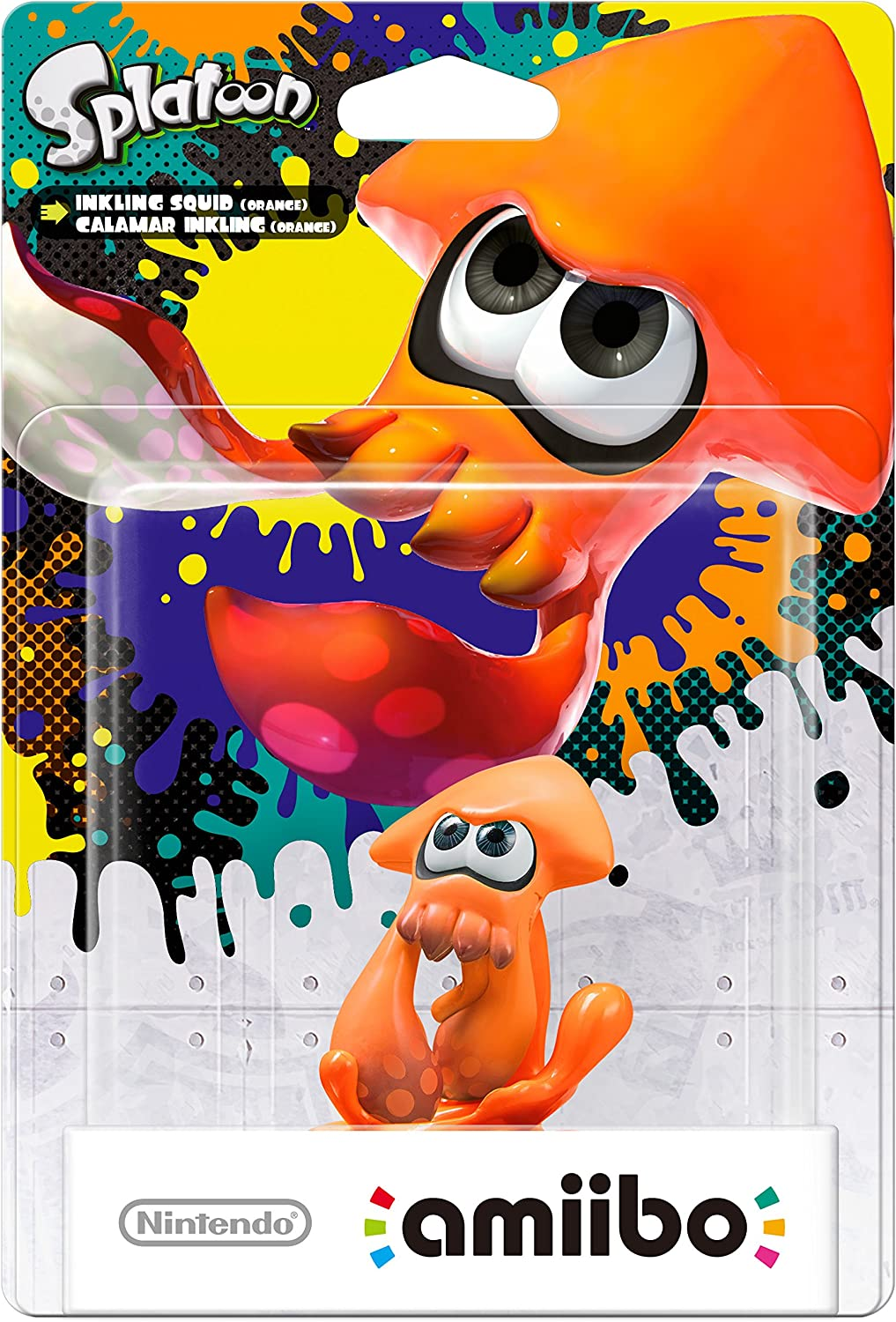 Nintendo - Figura amiibo Splatoon Calamar, Color Naranja: Amazon ...