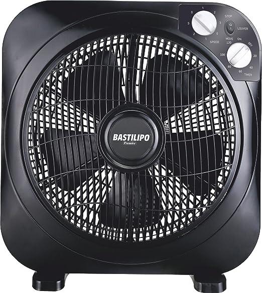 Bastilipo Zahara Ventilador Tipo Box con Temporizador, 45 W, Negro ...