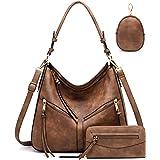 Lapsting Hobo Bags for Women Handbags Purse Ladies Boho Shoulder Bag Crossbody Purses Faux Leather
