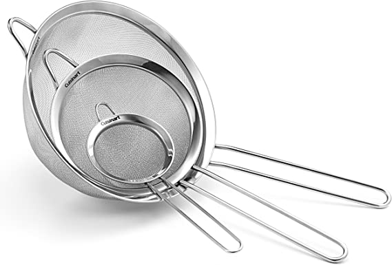 Cuisinart Set Of 3 Fine Mesh Stainless Steel Strainers Amazon Ca Home Kitchen