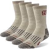 Merino Wool Hiking Socks, Zonent Unisex Thermal Warm Winter Crew Socks 4 Pairs