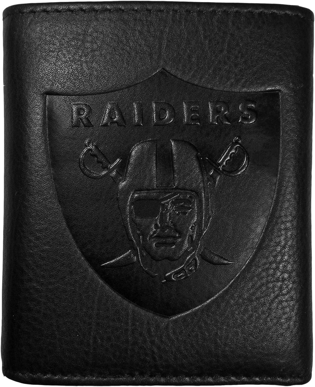 Siskiyou NFL unisex Embossed Leather Tri-fold Wallet