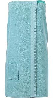 BETZ Toalla Sauna para Mujeres 100% algodón con Velcro Color Verde