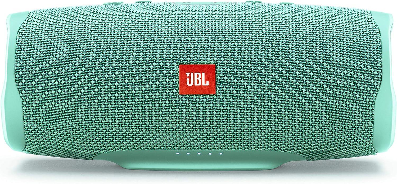 JBL Charge 4 – Altavoz inalámbrico portátil con Bluetooth, resistente al agua (IPX7), JBL Connect+, hasta 20 h de reproducción con sonido de alta fidelidad, color cian