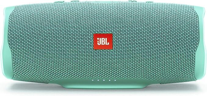 JBL Charge 4 - Altavoz inalámbrico portátil con Bluetooth, parlante resistente al agua (IPX7), JBL Connect+, hasta 20 h de reproducción con sonido de alta fidelidad, cian